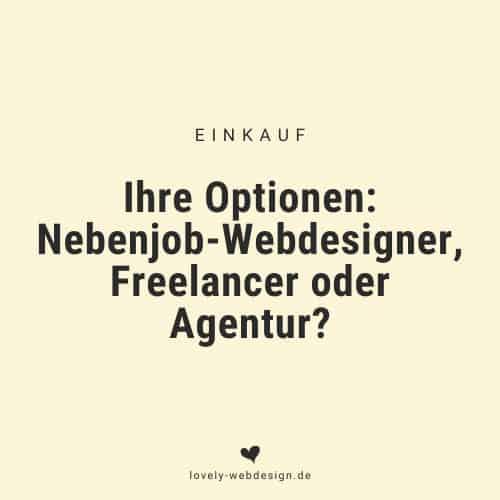 Nebenberufler, Freelancer oder Agentur?