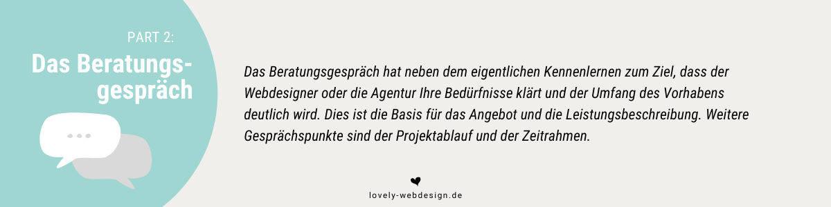 Webdesigner-Auswahl - hier das Beratungsgespräch