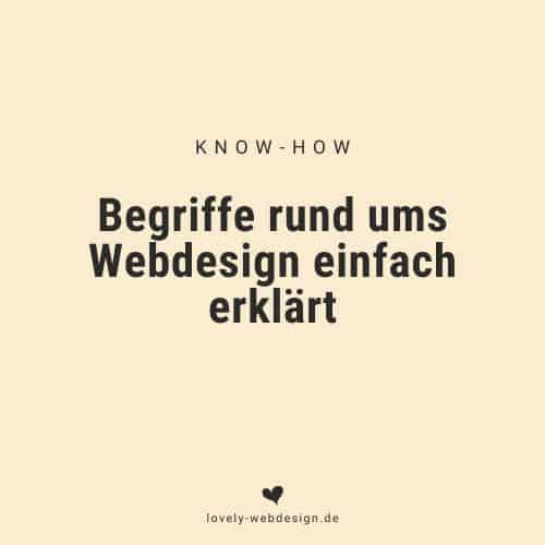 Webdesign Begriffe (Glossar)