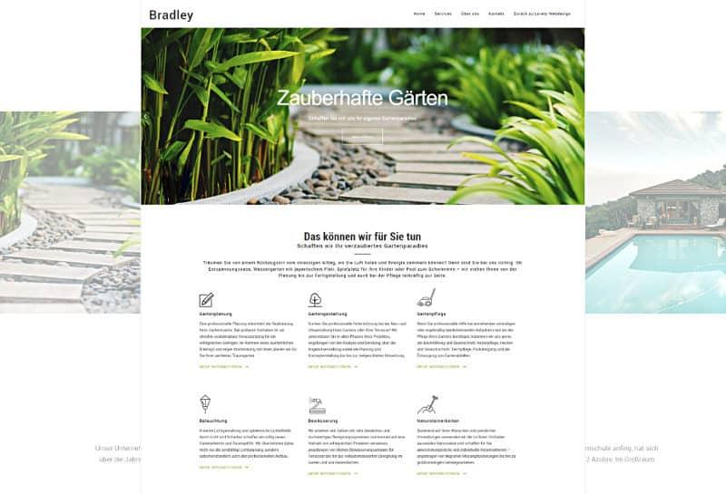 Bradley - WordPress-Vorlage für GALA-Bau und Architektur