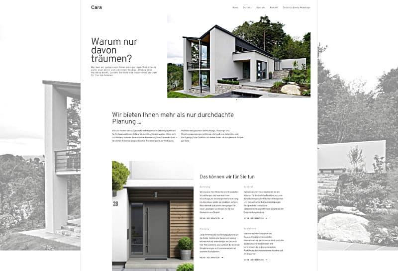 Cara - WordPress-Vorlage für Architektur und GALA-Bau
