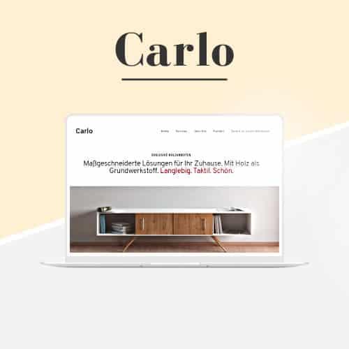 Carlo - WordPress-Vorlage für das Handwerk