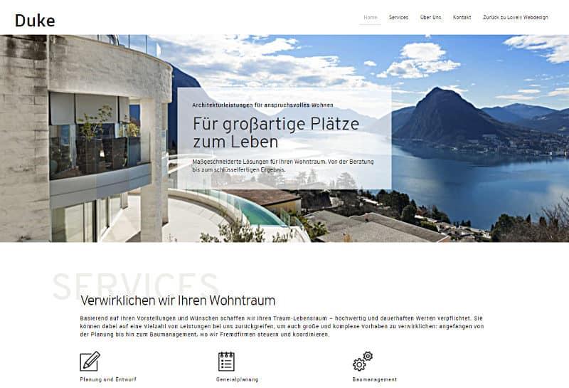 Duke - WordPress-Vorlage für Architektur und GALA-Bau