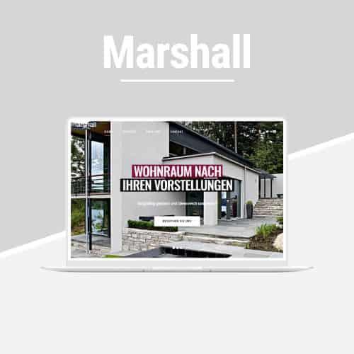 Marshall - WordPress-Vorlage für Architektur und GALA-Bau