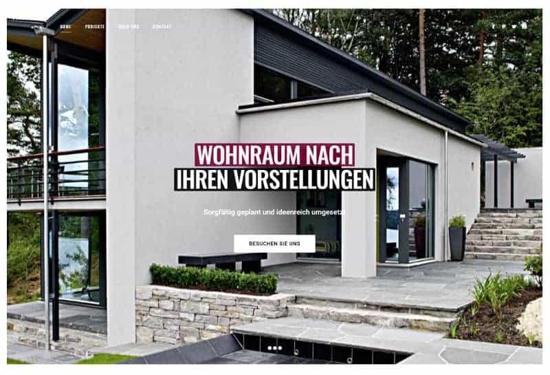 Webdesign für Architekten - Demo-Seite Marschall