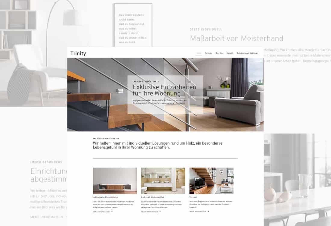 Trinity - WordPress-Vorlage für das Möbelhandwerk und Handwerk allgemein