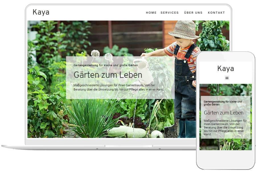 Responsives Webdesign für Garten- und Landschaftsbauer