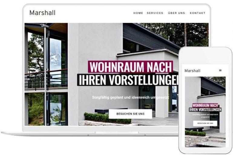 Responsives Webdesign für Architekten/Interior-Designer